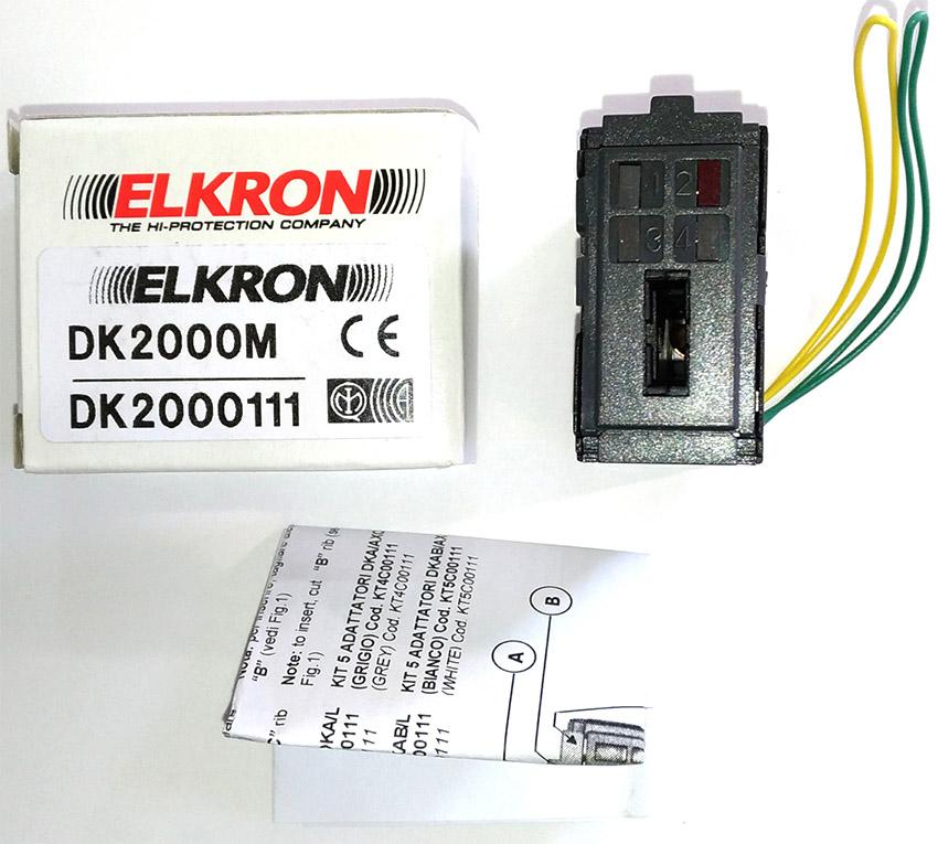ELKRON DK2000M Inseritore per chiave elettronica dk20 bianco o nero