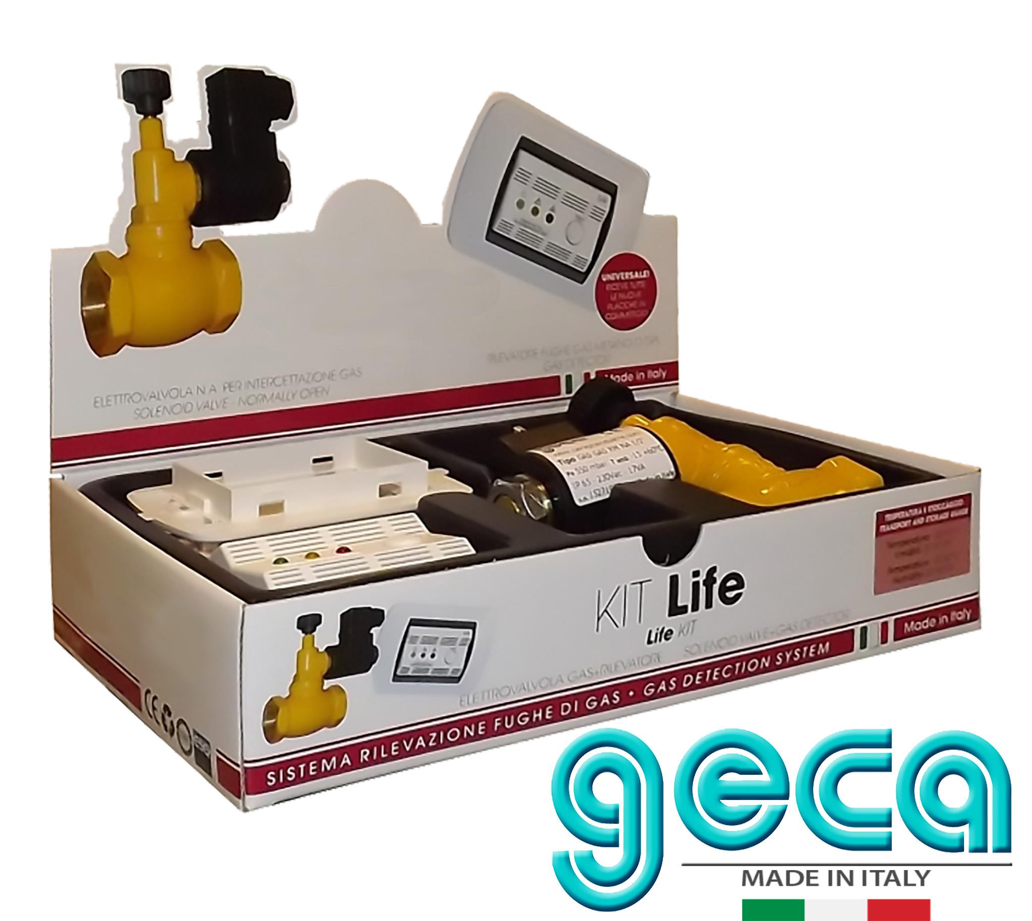geca kit life sicurezza rivelatore fughe di gas gpl con elettrovalvola 3 4 pollice vendita. Black Bedroom Furniture Sets. Home Design Ideas