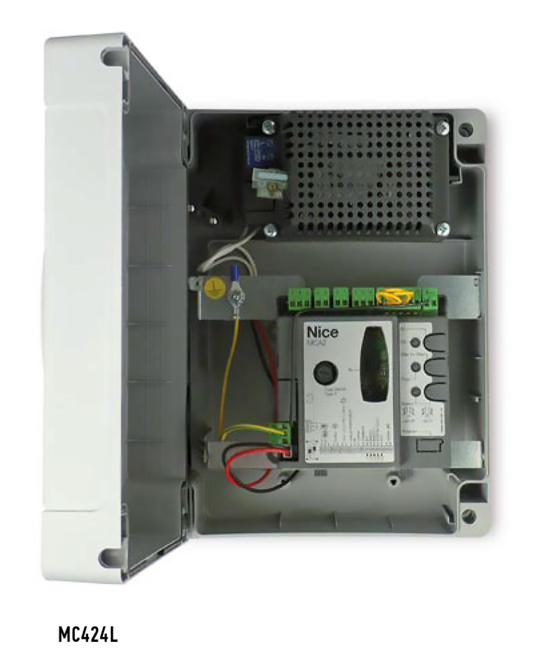 Schema Elettrico Per Automazione Cancello : Nice moonclever mc l centrale di comando per automazione v