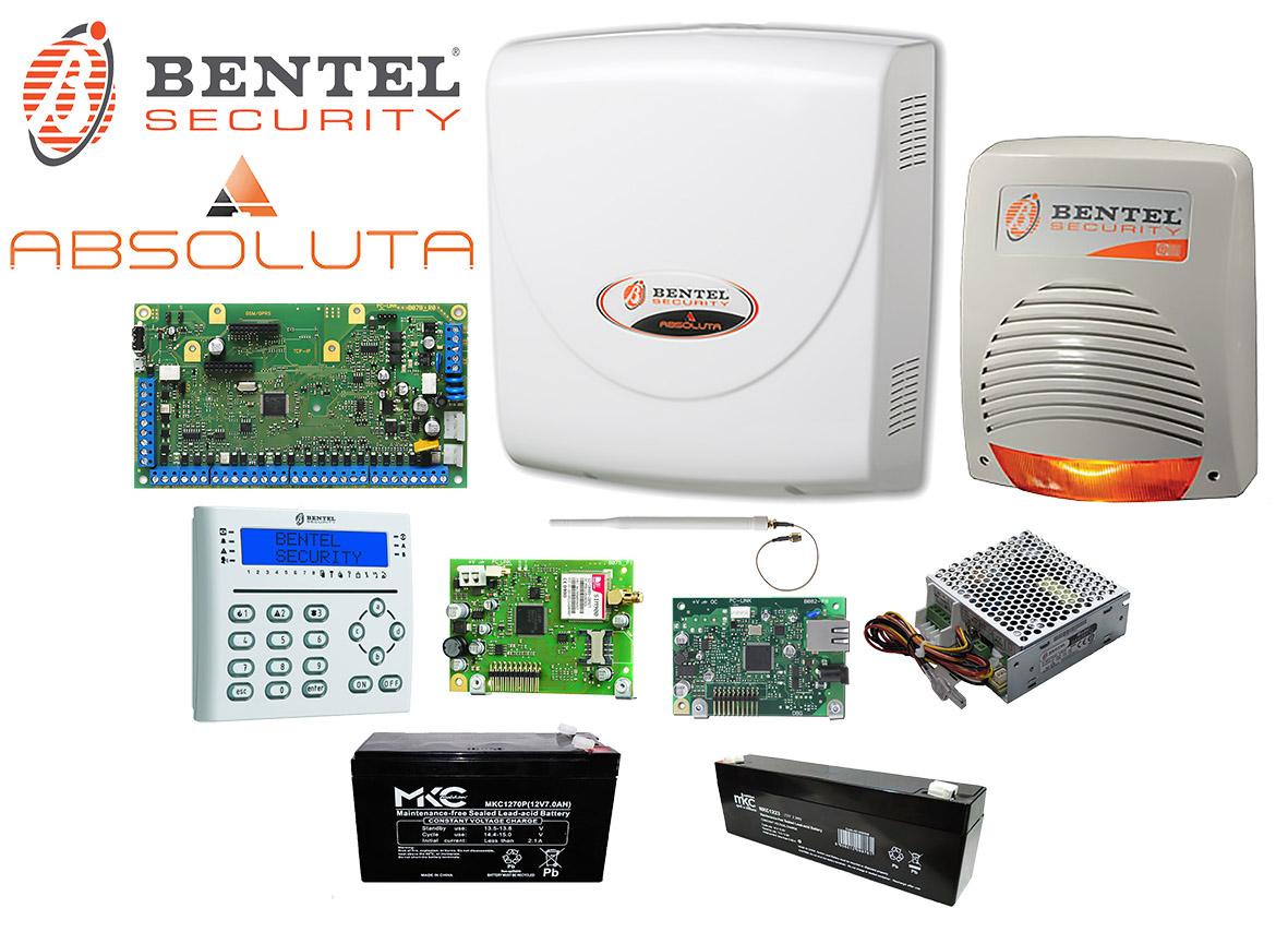 Bentel kit abs 42 ip kit antifurto absoluta filare 42 zone for Bentel security absoluta