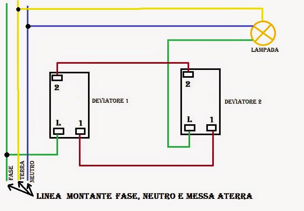 Schema Elettrico Deviatore Due Punti Luce : Deviatore schema vendita online materiale elettrico