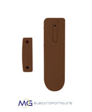 ELKRON_DC600BR_Contatto_Magnetico_Slim_Marrone_Batterie_Wireless_Egon_MG_Elettroforniture_prezzo_basso_migliore
